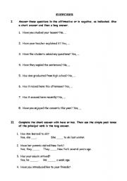 English Worksheets: Exercises