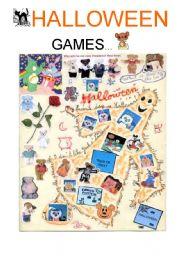 English worksheet: halloween games