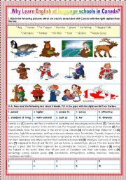 English Worksheet: A TOUR AROUND ENGLISH SPEAKING COUNTRIES - CANADA