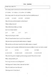 English worksheet: Detailed Questions for Sicko
