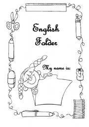 English Worksheet: Cover for the English portfolio/folder