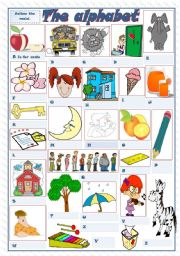 English Worksheets: THE ALPHABET