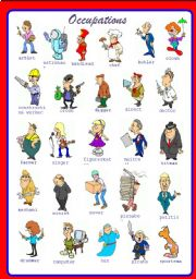 English Worksheets: Occupations Part 1 of 2 **fully editable