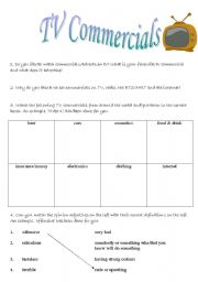 English Worksheet: Tv commercials