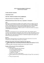 English worksheets: Scientific revolution Lesson Plan