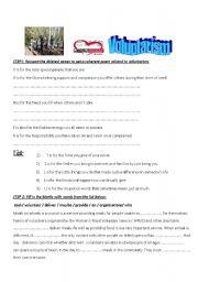 English Worksheets: community service, voluntarism