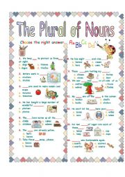 English Worksheets: THE PLURAL OF NOUNS 4/4