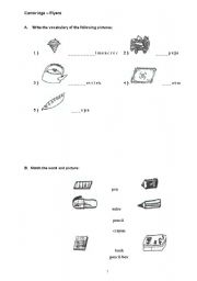 English Worksheets: Cambridge flyers worksheet 1