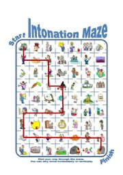 Intonation / Stress Patterns for Children and Adults Maze