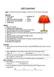 English teaching worksheets: States of matter