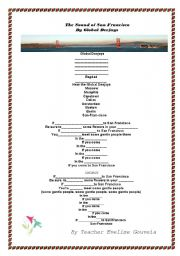 English Worksheet: The Sound of San Francisco (with Answer Key)