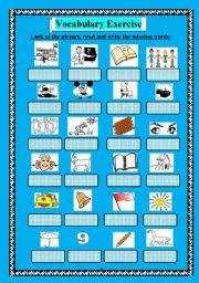 English Worksheets: vocab. exercise