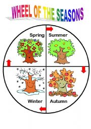 English Worksheet: season wheel