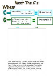 English Worksheets: Soft/Hard C