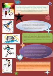 English Worksheet: sports Reading and Writing