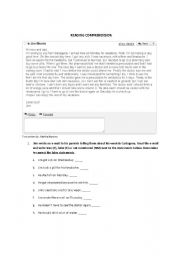 English Worksheets: Reading comprehension - Getting sick