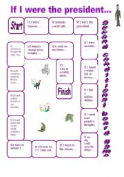 English Worksheet: Second Conditional Board Game