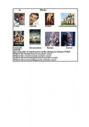 English Worksheets: Movie questions