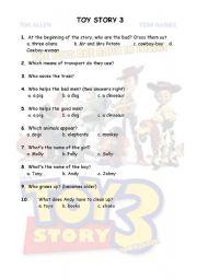 English Worksheet: TOY STORY 3