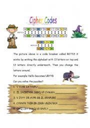 English Worksheets: Cipher Codes