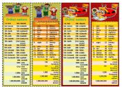 English Worksheet: Bookmarks with Cardinal and Ordinal Numbers -reuploaded