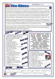 English Worksheets: Cryptoquiz #7: The Blues