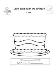 birthday cake esl worksheet by mags2003. Black Bedroom Furniture Sets. Home Design Ideas