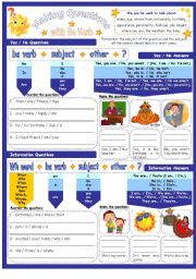 English worksheet: Making Open & Closed Questions with Be Verb Simple Present Part 1