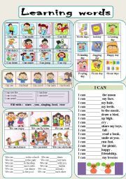 English Worksheet: LEARNING WORDS : with ability