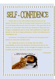 English Worksheets: self confidence