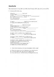 English Worksheets: stand by me - song