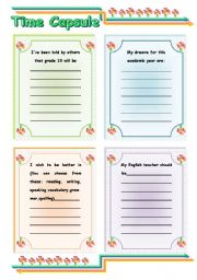 English worksheet: Time Capsule Idea