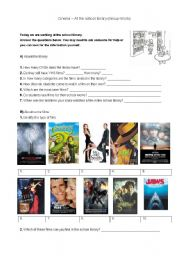 English Worksheet: Cinema - At the school library