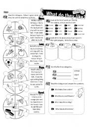 English Worksheet: What Do they Series_03 Cats (Fully Editable)