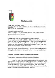 English Worksheets: Stoplight Answer Format