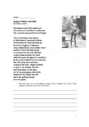 English Worksheets: Refugee Mother and Child
