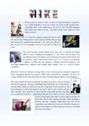 English Worksheet: NIKE
