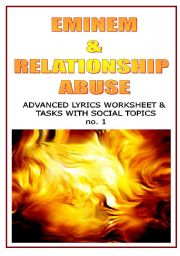 English Worksheets: EMINEM & RELATIONSHIP ABUSE
