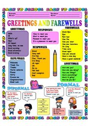 GREETINGS AND FAREWELLS 1/3 (INTRODUCTIONS) B/W version included