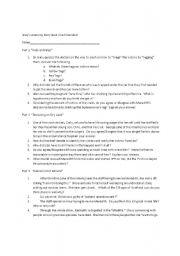 English Worksheet: Grey´s Anatomy Ferry Crash Study Guide