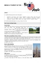 English Worksheet: New York City - Manhattan - Sightseeing