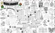 English Worksheet: buildings,houses