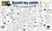 English Worksheets: weather and seasons
