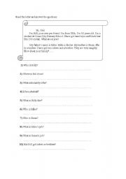 English Worksheets: New penfriend