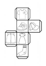 English Worksheet: dice clothes
