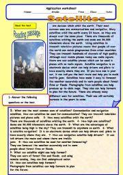 English Worksheets: Satallites