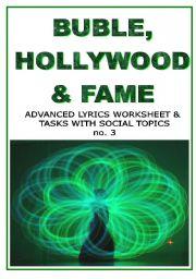 English Worksheet: BUBLE, HOLLYWOOD & FAME