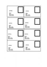 English Worksheets: IDENTITY CARDS.