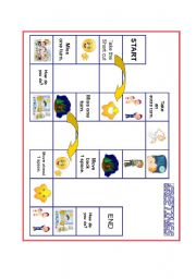 English Worksheet: greetings spinner and boardgame