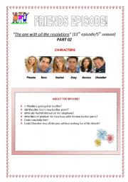 English Worksheet: PART 02 - Video Session - Friends Episode: